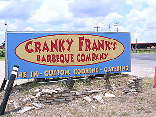 Cranky frank's bbq sign