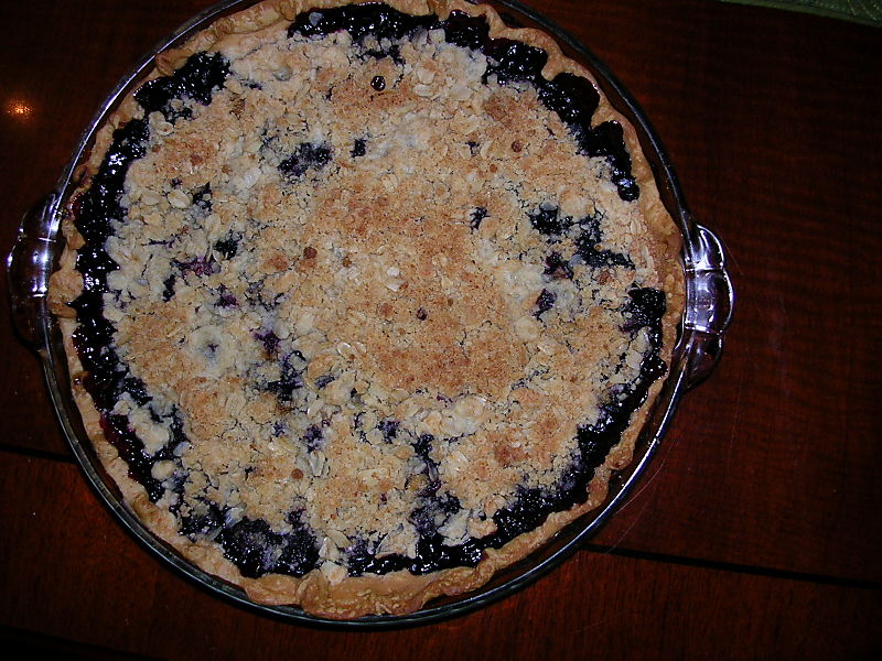 Libbie's blueberry pie