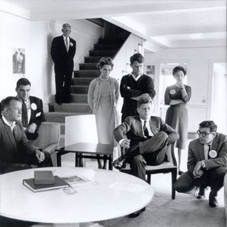 46g. November 1960 -- JFK And Family And Aides Watch The Election Returns