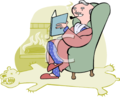 0511-0812-2902-2033_Wealthy_Man_Relaxing_with_a_Book_clipart_image