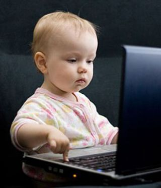 Baby-and-computer
