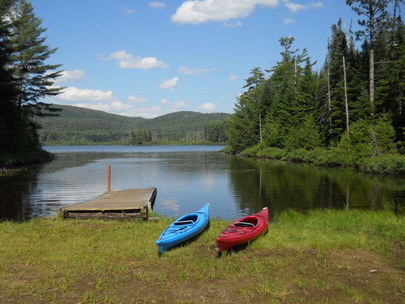 Kayaks at Bucks pond