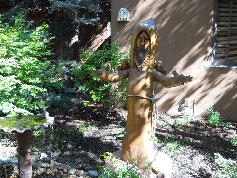 St. Francis in court yard